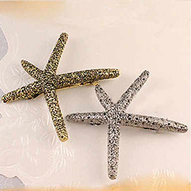 Starfish Retro Metal Hair Clips Korean Pop Hair Head Ornaments