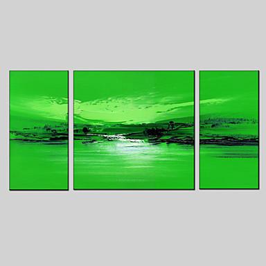 Ręcznie malowane StreszczenieNowoczesny Trzy panele Płótno Hang-Malowane obraz olejny For Dekoracja domowa