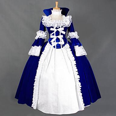 Gotik Lolita Steampunk® Dantel Kadın's Elbiseler Cosplay Uzun Kollu Uzun (L)