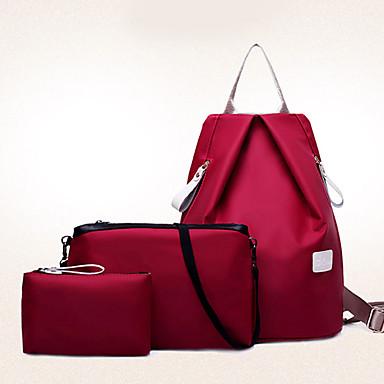 6152d425ca Γυναικεία Τσάντες Νάιλον Τσάντα ταξιδιού   σακκίδιο   Σετ τσάντα 3 σετ Σετ  τσαντών Μονόχρωμο Φούξια   Μπλε   Κρασί   Τσάντα Σετ