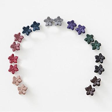 mini kleine Blume kleinen Clip-Kopfschmuck der Han-Ausgabe gefrostet Kinder schlagen kleine Haargreifer dunklen gemischten 10 / Gruppe