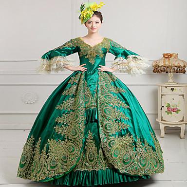 Egyrészes/Ruhák Gótikus Lolita Steampunk® Rokokó Cosplay Lolita ruhák Nyomtatott Régies (Vintage) Hosszú ujj Hosszú hossz Kalap mert