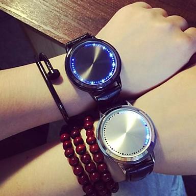 Жен. Модные часы Кварцевый LED PU Группа Черный