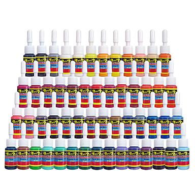 Solo dövme mürekkepleri 54 renk seti 5ml / şişe dövme pigment kiti