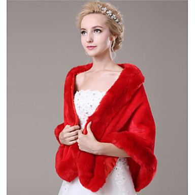 Sleeveless Faux Fur Wedding Party Evening Casual Fur Wraps Wedding  Wraps Shawls