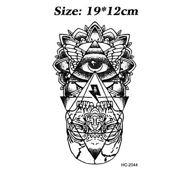 Brand New - 타투 스티커 - Non Toxic/패턴/할로윈/큰 사이즈/종족의/허리 아래/Waterproof - Totem Series/기타 - 여성/남성/어른/Teen - 블랙 - 종이 - 8 - 12cm(W)*19cm(L) -Eye