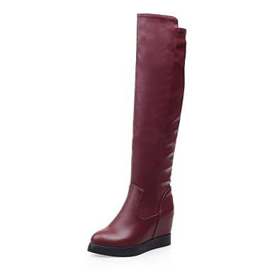 Γυναικεία παπούτσια - Μπότες - Φόρεμα / Καθημερινά - Ενιαίο Τακούνι - Ενιαία Σόλα / Μυτερό / Μοντέρνες Μπότες - Δερματίνη -Μαύρο / Μπλε /