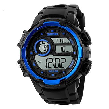 SKMEI Homens Digital Relógio de Pulso Relógio Esportivo Alarme Calendário Cronógrafo Impermeável Relógio Esportivo LCD Borracha Banda