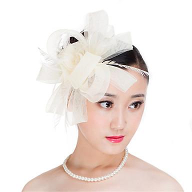 Jalokivi ja kristalli Sulka Polyesteri fascinators Headpiece with Kristalleilla 1 Häät Erikoistilaisuus Juhlat Kausaliteetti ulko- Päähine