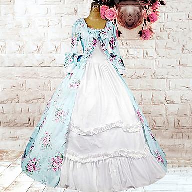Sweet Lolita Lolita Kadın's Tek-parça Elbiseler Cosplay Çiçekli Uzun Kollu