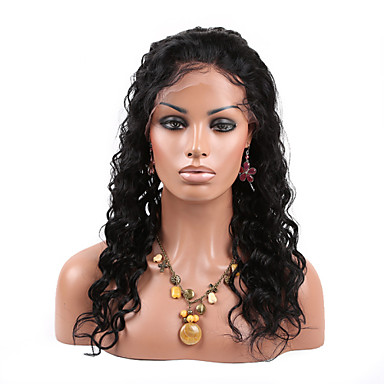 150% Density Water Wave Wig Brazilian Virgin Hair Natural Color 360 Lace Wig for Black Women