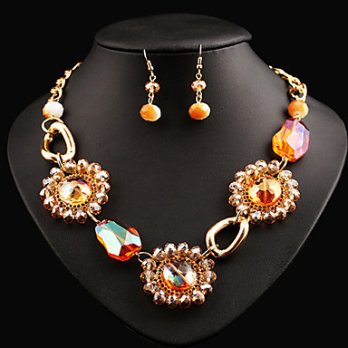 Women's Jewelry Set Crystal Vintage Cute Party Casual Fashion Statement Jewelry Cute Style European Party Special Occasion Anniversary