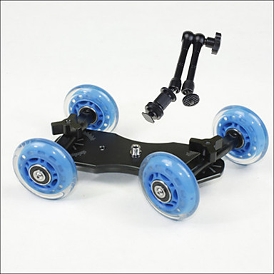 Profesjonalny wózek blat rozsuwany aparat DSLR łyżwiarz ciężarówka koła stabilizator 5D2 eos wideo +11 calowych magicznych rąk