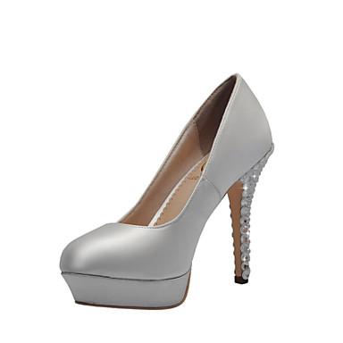 Γάμος Παπούτσια - Γυναικεία - Με Τακούνι / Πλατφόρμες / Κλειστή Μύτη - Γόβες - Γάμος / Φόρεμα / Πάρτι & Βραδινή Έξοδος - Άσπρο