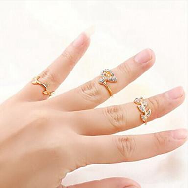 Gyűrűk Divat Parti Ékszerek Női Midi gyűrűk 1set,Egy méret Aranyozott / Ezüst