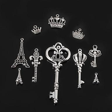 Kadın's Kule Crown Shape Kolye Uçları / Kolye Ucu - Moda H / I / J Crown Shape Kolye Uyumluluk Günlük