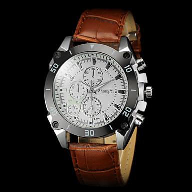 Men's Wrist Watch Hot Sale PU Band Charm Black / Brown