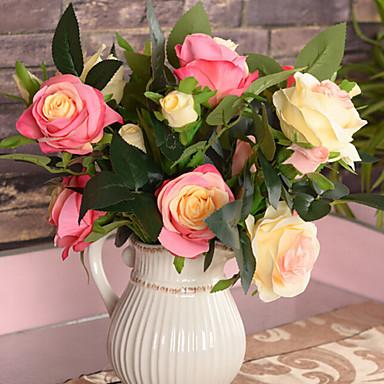 Seda / Plástico Rosas Flores artificiais