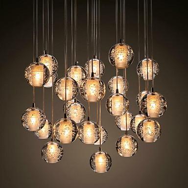 Moderne/Contemporain Cristal Lampe suspendue Lumière d'ambiance Pour Salle de séjour Salle à manger Extérieur Chambre des enfants Entée