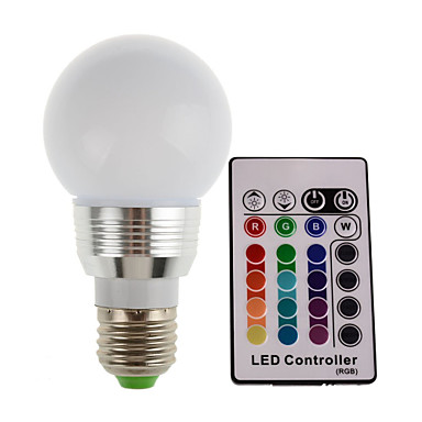 1.5W 2700-7000 lm E14 E26/E27 LED Sahne Işıkları Tüp 1 led Yüksek Güçlü LED Dekorotif Uzaktan Kumandalı RGB AC 85-265V