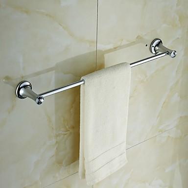Håndklestang Moderne Messing Krystall 1 stk - Hotell bad 1-Håndkle Bar