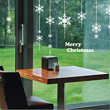 Art Deco Contemporary Window Sticker, PVC/Vinyl Material Window Decoration Dining Room Bedroom Office Kids Room Living Room Bath Room