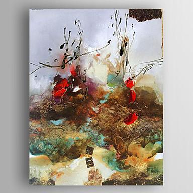 El-Boyalı Soyut / Çiçek/BotanikModern Tek Panelli Kanvas Hang-Boyalı Yağlıboya Resim For Ev dekorasyonu