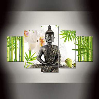 5 Panel Wall Art Buddha Bamboo Flowers Print On Canvas For Wall Decor Wall  Pictures Framed Art As A Gif 4508365 2018 U2013 $108.99