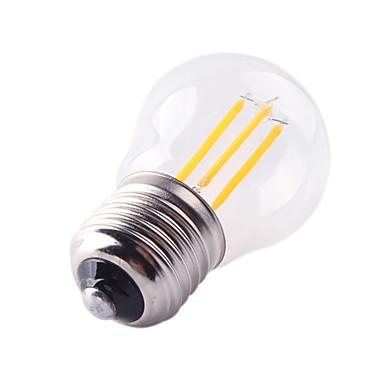 HRY 1kpl 4W 360lm E26 / E27 LED-hehkulamput G45 4 LED-helmet COB Koristeltu Lämmin valkoinen Kylmä valkoinen 220-240V