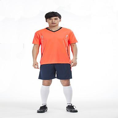 Erkek Futbol Gömlek + Şort Giysi Setleri Alt Giyimler Hızlı Kuruma Nefes Alabilir Hafif Malzemeler Kış Bahar Yaz Sonbahar Klasik Terylene