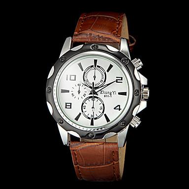 Men's Wrist Watch Hot Sale PU Band Charm Black