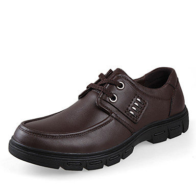 Bigs Size 38-45 Men's Shoes Outdoor / Office & Career / Party & Evening / Casual Leather Oxfords Black / Brown