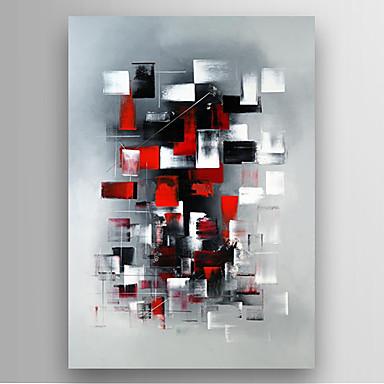 Maalattu Abstrakti Pystysuora,Moderni 1 paneeli Kanvas Hang-Painted öljymaalaus For Kodinsisustus