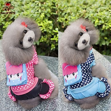 Hund Frakker Kjeledresser Hundeklær Polkadotter Rose Blå Bomull Kostume For kjæledyr Herre Dame Fritid/hverdag