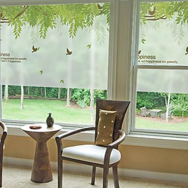 Art Deco Kortárs Ablak matrica, PVC/Βινύλιο Anyag Ablakstílus Étkező Hálószoba Iroda Gyerekszoba Nappali