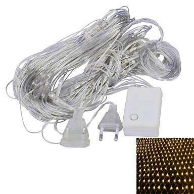Cordões de Luzes 96 LEDs Branco Quente Roxa Conetável 220V