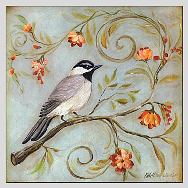 El-Boyalı HayvanModern / Klasik / Geleneksel / Avrupa Tipi Tek Panelli Kanvas Hang-Boyalı Yağlıboya Resim For Ev dekorasyonu