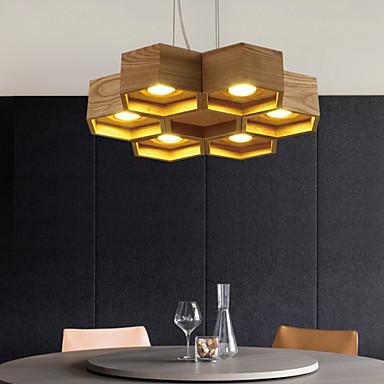 Riipus valot ,  Maalaistyyliset Muut Ominaisuus for LED Puu/bambuLiving Room Makuuhuone Ruokailuhuone Työhuone/toimisto Lastenhuone