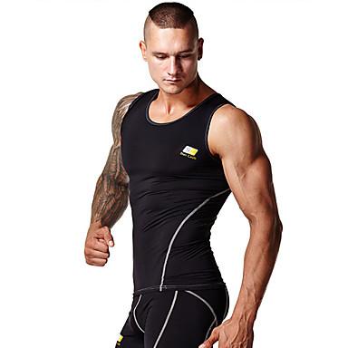 Erkek Stanik do biegania - Beyaz, Siyah Spor Dalları Kısa Paltolar / Üstler Yoga, Pilates, Fitness Giyilebilir, Miękki, Sıkıştırma Solid,