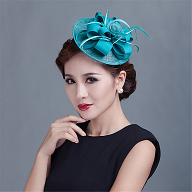 pellava höyhenpussi polyesteri kiehtovia päähine klassinen naisellinen tyyli