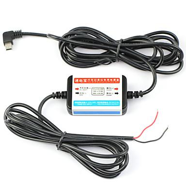 araba dvr arayüzü, mini usb için 12v-24v özel güç kutusu kablolu pil deşarj önleme dearroad
