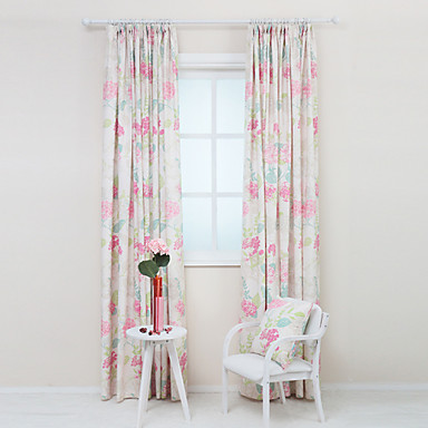 Rod Pocket Grommet Top Tab Top Double Pleat Pencil Pleat Two Panels Curtain Country Modern Neoclassical Mediterranean Rococo Baroque
