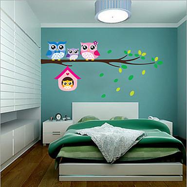 Hayvanlar Duvar Etiketler Uçak Duvar Çıkartmaları , PVC 20cm*60cm