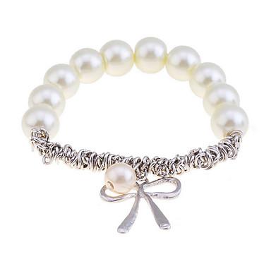 abordables Bracelet-Breloque Charms Bracelet Femme Imitation de perle Bracelet Bijoux Argent Doré pour Regalos de Navidad Soirée Quotidien Décontracté