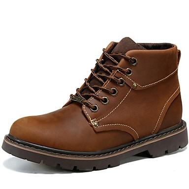 Unisexo Sapatos Pele Napa Outono Conforto / Botas Cowboy / Country / Botas de Montaria Botas Amarelo / Castanho Claro / Botas da Moda