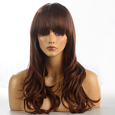 Synthetic Hair Wigs Wavy Capless Carnival Wig Halloween Wig Brown