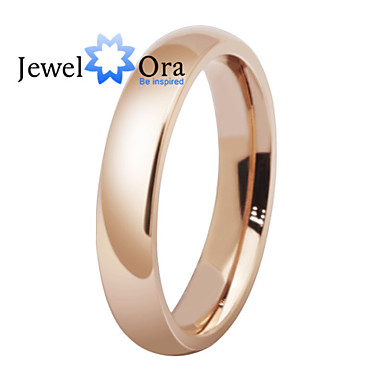 Women's Band Ring Rose Gold Rose Gold Steel Fashion Party Costume Jewelry