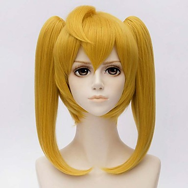 MATO BUY Anime Seraph of the end Character Mitsuba Sanguu 30cm Short Wig Golden Cosplay Wigs Peruca