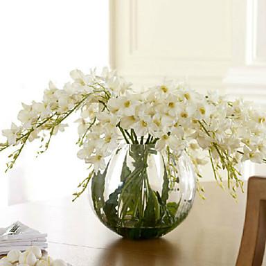 Artificial Flowers 1pcs Branch European Style Orchids Tabletop Flower