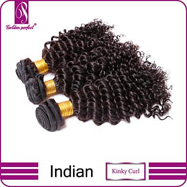 Υφάνσεις ανθρώπινα μαλλιών Ινδική Kinky Curly 3 Κομμάτια υφαίνει τα μαλλιά